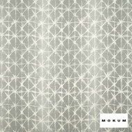 Mokum Shibori Ombre * - Silver  | Curtain Fabric - Grey, Silver, Geometric, Industrial, Natural Fibre, Pattern, Domestic Use, Lattice, Trellis, Natural, Wide Width