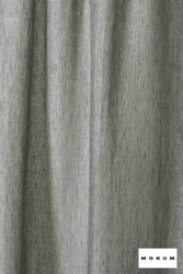 Mokum Lino * - Ink  | Curtain & Curtain lining fabric - Washable, Green, Wide-Width, Dry Clean, Natural, Plain, Texture, Natural Fibre