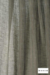 Mokum Lino * - Storm    Curtain & Curtain lining fabric - Washable, Black, Charcoal, Wide-Width, Dry Clean, Natural, Plain, Texture, Natural Fibre
