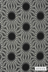 Catherine Martin By Mokum Helios - Onyx 862  | Upholstery Fabric - Fire Retardant, Washable, Black, Charcoal, Contemporary, Eclectic, Dry Clean
