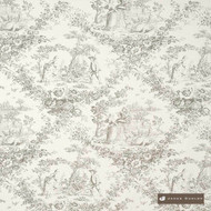 James Dunlop Loire - Riverstone    Curtain & Upholstery fabric - Grey, Natural Fibre, Toile, Traditional, Washable, Domestic Use, Dry Clean, Natural, Top of Bed