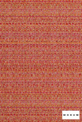 Mokum Collette - Red Coral 184    Upholstery Fabric - Stain Repellent, Fire Retardant, Red, Organic, Pink, Purple, Southwestern, Synthetic, Washable, Commercial Use, Dry Clean