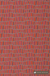 James Dunlop Shard - Lipstick  | Upholstery Fabric - Red, Geometric, Midcentury, Natural Fibre, Small Scale, Washable, Abstract, Commercial Use, Dry Clean, Natural