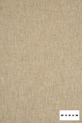 Mokum Sahel - Linen  | Upholstery Fabric - Stain Repellent, Fire Retardant, Plain, Natural Fibre, Tan, Taupe, Domestic Use, Dry Clean, Natural, Standard Width, Strie