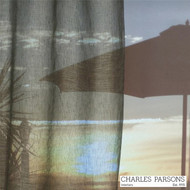 Charles Parsons Parisi - Tarmac  | Curtain Sheer Fabric - Grey, Plain, Industrial, Natural Fibre, Uncoated, Domestic Use, Natural, Weighted Hem, Wide Width