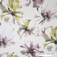 Charles Parsons Tropicana - Orchid  | Curtain Fabric - Contemporary, Floral, Garden, Multi-Coloured, Pink, Purple, Synthetic, Uncoated, Washable, Domestic Use, Watercolour