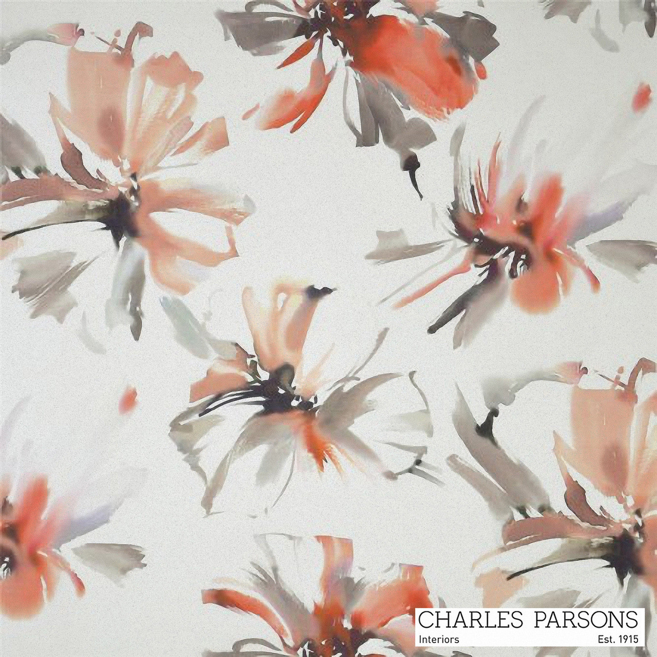 Charles Parsons Tropicana - Watermelon  | Curtain Fabric - Contemporary, Floral, Garden, Multi-Coloured, Synthetic, Uncoated, Washable, Domestic Use, Standard Width