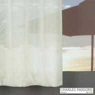 Charles Parsons Cornelli - Turin Ivory  | Curtain Sheer Fabric - Fire Retardant, Plain, White, Synthetic, Uncoated, Washable, Commercial Use, White, Wide Width