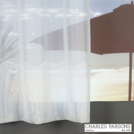 Charles Parsons Cornelli - Milano White  | Curtain Sheer Fabric - Fire Retardant, Plain, White, Synthetic, Washable, Commercial Use, White, Wide Width