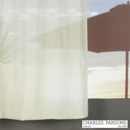 Charles Parsons Cornelli - Napoli Ivory  | Curtain Sheer Fabric - Fire Retardant, Plain, White, Synthetic, Washable, Commercial Use, White, Wide Width