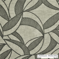 Charles Parsons Jake - Leaf Grey  | Curtain & Upholstery fabric - Grey, Floral, Garden, Midcentury, Synthetic, Uncoated, Commercial Use, Standard Width