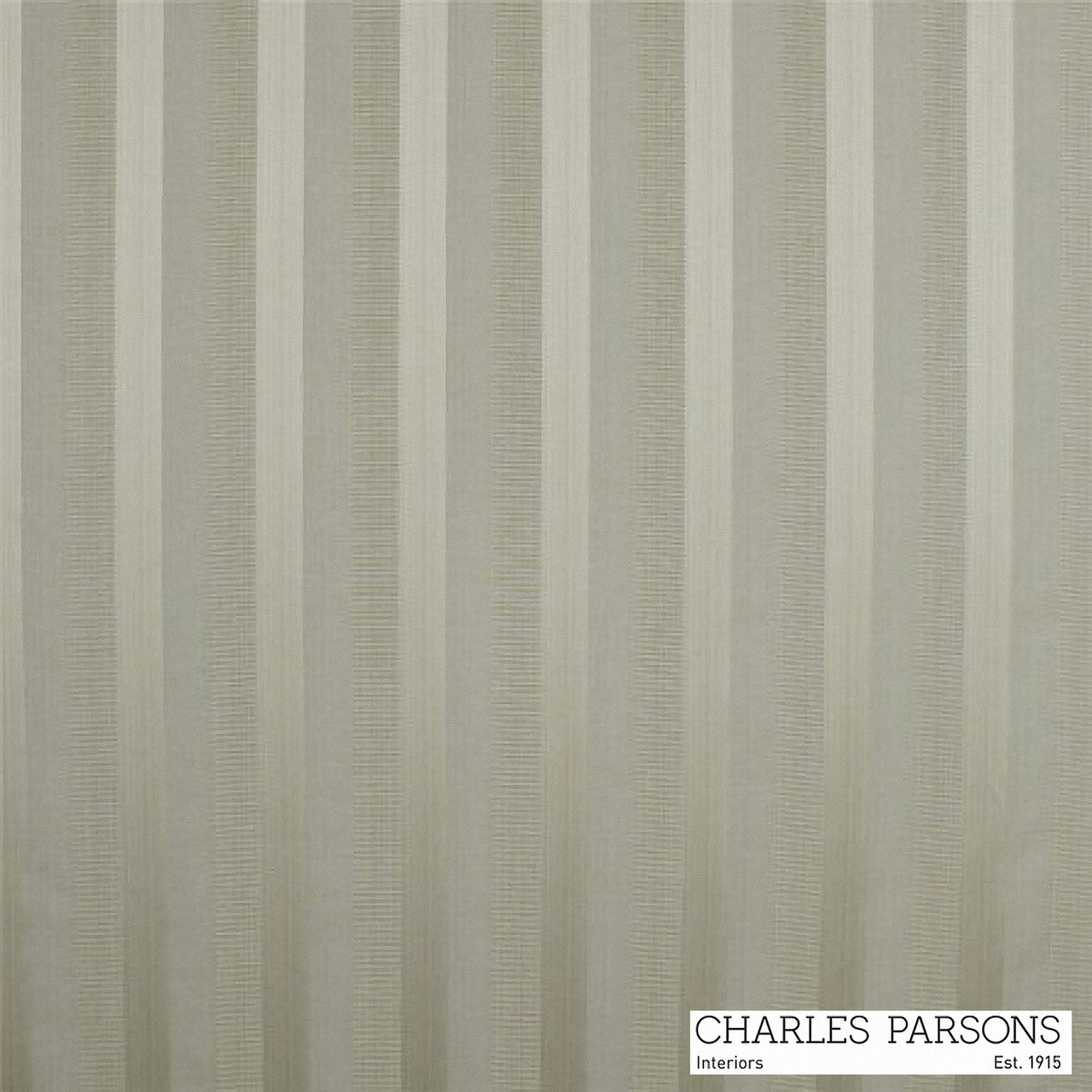 Charles Parsons Laurent - Mocha  | Curtain & Upholstery fabric - Grey, Fibre Blends, Stripe, Traditional, Uncoated, Washable, Commercial Use, Standard Width