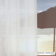 Charles Parsons Etoile - Snow  | Curtain & Upholstery fabric - Fire Retardant, Plain, White, Synthetic, Uncoated, Washable, Commercial Use, White, Wide Width