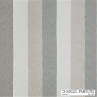 Charles Parsons Flaxton - Silver  | Curtain Sheer Fabric - Fire Retardant, Grey, Stripe, Synthetic, Traditional, Uncoated, Washable, Domestic Use, Weighted Hem, Wide Width