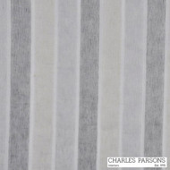 Charles Parsons Delphina - Ash  | Curtain Sheer Fabric - Grey, Natural Fibre, Stripe, Traditional, Uncoated, Domestic Use, Natural, Weighted Hem, Wide Width