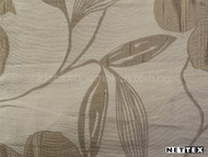 Nettex Savvy Champagne MG12  | Curtain Fabric - Beige, White, Asian, Floral, Garden, Synthetic, Tan, Taupe, Chinoise, Domestic Use, Natural, White, Standard Width