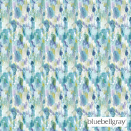 Bluebellgray Cameron - Teal  | Curtain & Upholstery fabric - Blue, Contemporary, Deco, Decorative, Floral, Garden, Natural Fibre, Organic, Turquoise, Teal, Domestic Use