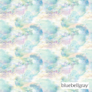 Bluebellgray Impressionist - Teal  | Curtain & Upholstery fabric - Blue, Deco, Decorative, Floral, Garden, Natural Fibre, Organic, Transitional, Turquoise, Teal, Dry Clean