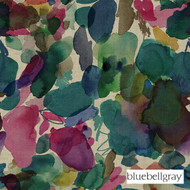 Bluebellgray Big Archie - Petrol  | Curtain & Upholstery fabric - Blue, Contemporary, Deco, Decorative, Floral, Garden, Multi-Coloured, Natural Fibre, Organic, Pink, Purple
