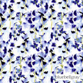 Bluebellgray Harebelle - Indigo  | Curtain & Upholstery fabric - Blue, Contemporary, Floral, Garden, Natural Fibre, Domestic Use, Dry Clean, Natural, Top of Bed