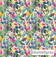 Bluebellgray Petite Mode - Meadow  | Curtain & Upholstery fabric - Blue, Contemporary, Floral, Garden, Multi-Coloured, Natural Fibre, Pink, Purple, Domestic Use, Dry Clean