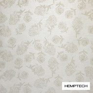 Hemptech Tumbling Roses - Grey Morn  | Curtain Fabric - Floral, Garden, Natural Fibre, Pattern, Tan, Taupe, Washable, Domestic Use, Natural, Standard Width