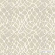 Baker Lifestyle - Anet - Silver  | Curtain & Curtain lining fabric - Contemporary, Wide-Width, Transitional, Mosaic
