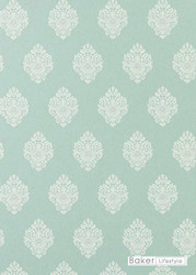 Baker Lifestyle - Raja - Teal  | Wallpaper, Wallcovering - Damask, Traditional