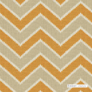 Baker Lifestyle - Amani - Sienna-Stone  | Curtain & Upholstery fabric - Kilim, Mediterranean, Natural Fibre, Chevron, Zig Zag, Natural, Print, Standard Width