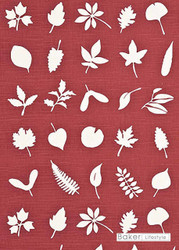 Baker Lifestyle - Tumbling Leaves - Red  | Curtain & Upholstery fabric - Red, Floral, Garden, Botantical, Farmhouse, Natural, Natural Fibre