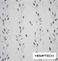 Hemptech Arrowtown - Bracken  | Curtain Fabric - Brown, Floral, Garden, Natural Fibre, Washable, Domestic Use, Natural, Standard Width
