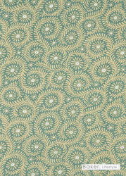 Baker Lifestyle - Foxy - Aqua  | Curtain & Upholstery fabric - Green, Floral, Garden, Botantical, Farmhouse, Natural, Print, Small Scale