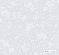 Baker Lifestyle - Crystal - White  | Curtain & Curtain lining fabric - Traditional, Wide-Width, Transitional, Whites, Lattice, Trellis