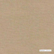 Baker Lifestyle - Tiree - Linen  | Curtain Fabric - Brown, Plain, Natural Fibre, Natural, Standard Width