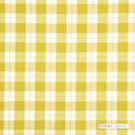Baker Lifestyle - Beachcomber Check - Apple  | Curtain Fabric - Gold, Yellow, Traditional, Check, Farmhouse, Gingham, Natural, Natural Fibre