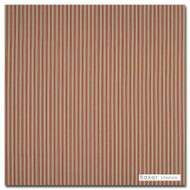 Baker Lifestyle - M7691 - 450  | Curtain & Upholstery fabric - Red, Stripe, Traditional, Natural, Print, Strie, Natural Fibre, Standard Width