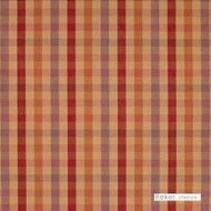Baker Lifestyle - Alderley Check - Gold-Blush-Mauve  | Curtain & Upholstery fabric - Gold, Yellow, Orange, Red, Traditional, Wide-Width, Check, Plaid