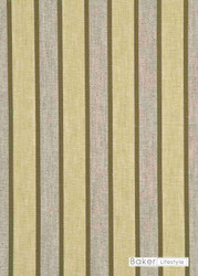 Baker Lifestyle - Elton Stripe - Leaf  | Curtain & Upholstery fabric - Gold, Yellow, Stripe, Traditional, Natural, Natural Fibre, Standard Width