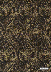 GPJ Baker - Wolsey - Bronze-Ebony  | Curtain & Upholstery fabric - Brown, Traditional, Ogee, Fibre Blend, Standard Width