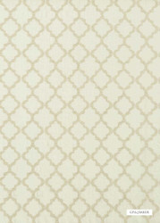 GPJ Baker - Cottesmore - Silver  | Curtain & Upholstery fabric - Beige, Tan, Taupe, Mediterranean, Transitional, Embroidery, Lattice, Trellis
