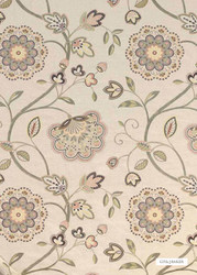 GPJ Baker - Boscobel - Tea Rose-Sage  | Curtain & Upholstery fabric - Beige, Green, Floral, Garden, Botantical, Traditional, Embroidery, Farmhouse