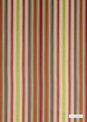GPJ Baker - Somerford Stripe - Ruby-Purple-Rust  | Curtain & Upholstery fabric - Green, Stripe, Transitional, Embroidery, Natural, Natural Fibre