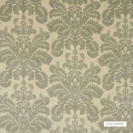 GPJ Baker - Marchmont Damask - Silver  | Curtain & Upholstery fabric - Beige, Traditional, Embroidery, Damask, Natural, Rococo, Natural Fibre