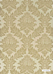 GPJ Baker - Lydford Damask - Taupe  | Wallpaper, Wallcovering - Tan, Taupe, Traditional, Damask, Rococo, Paper Based
