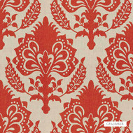 GPJ Baker - Malatesta - Tomato  | Curtain & Upholstery fabric - Orange, Traditional, Damask, Natural, Rococo, Natural Fibre, Standard Width