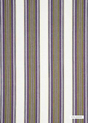 GPJ Baker - Paxton Stripe - Mauve-Lime  | Curtain & Upholstery fabric - Pink, Purple, Stripe, Traditional, Natural, Natural Fibre, Standard Width