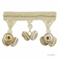 GPJ Baker - Button Drop Braid - Ivory  | Fringe, Curtain & Upholstery Trim - Beige, Traditional, Trimmings, Fringe, Fibre Blend