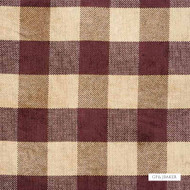 GPJ Baker - Lancelot Check - Claret  | Curtain & Upholstery fabric - Brown, Check, Farmhouse, Fibre Blends, Gingham, Traditional, Weave, Standard Width