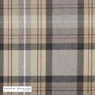 James Dunlop Indent - Lanark - Slate  | Curtain & Upholstery fabric - Brown, Fire Retardant, Check, Fibre Blends, Geometric, Traditional, Washable, Commercial Use, Dry Clean