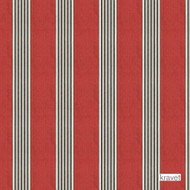 Kravet - Mesud - Poppy  | Upholstery Fabric - Red, Natural Fibre, Stripe, Traditional, Natural, Standard Width